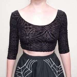 Blackmilk burned velvet crop top